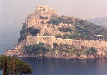 Hill-top fortified town in Italy
